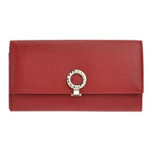 Bvlgari (ブルガリ) 33889 GRAIN/RUBY RED 長財布