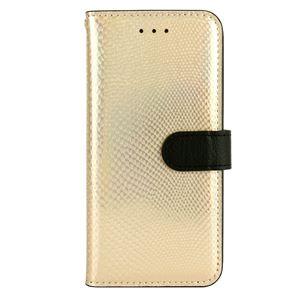 iPhone6s ケース 手帳型 HANSMARE Hologram Calf Diary(ハンスマレ ホログラムカーフダイアリー)アイフォン iPhone6(gold)