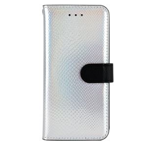 iPhone6s ケース 手帳型 HANSMARE Hologram Calf Diary(ハンスマレ ホログラムカーフダイアリー)アイフォン iPhone6(silver)