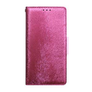 多機種対応スマートフォンマルチケース HANSMARE CALF Diary(ハンスマレ カーフダイアリー)(Wine Pink)
