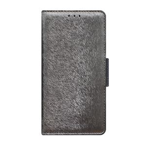 多機種対応スマートフォンマルチケース HANSMARE CALF Diary(ハンスマレ カーフダイアリー)(Metal Black)