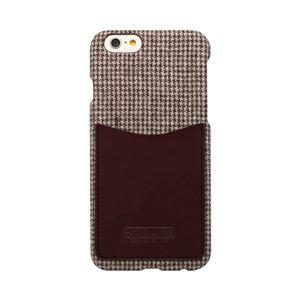 iPhone6s/6 ケース HANSMARE Leather Pocket Bar(ハンスマレ レザーポケットバー)アイフォン カバー(Bar houndstoothbrown)