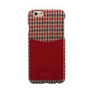 iPhone6s/6 ケース HANSMARE Leather Pocket Bar(ハンスマレ レザーポケットバー)アイフォン カバー(Bar houndstooth red)