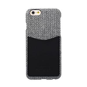 iPhone6s/6 ケース HANSMARE Leather Pocket Bar(ハンスマレ レザーポケットバー)アイフォン カバー(Bar herringboneblack)