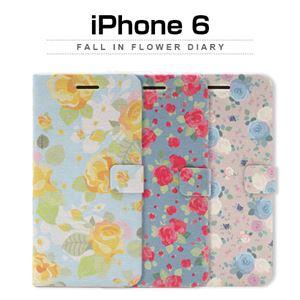 Happymori iPhone6 Fall in flower Diary ピンクローズ
