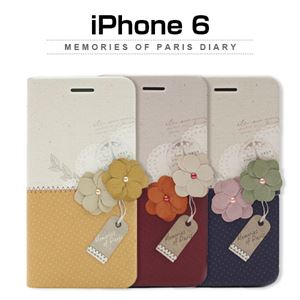Happymori iPhone6 Memories of Paris Diary マスタード