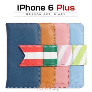 Happymori iPhone6 Plus Reason Ave. Diary ネイビー
