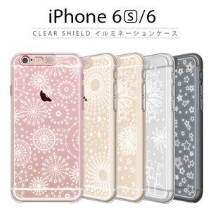 SG iPhone6s/6 Clear Shield イルミネーションケース ゴールド ファイヤーフラワー