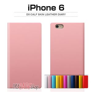 SLG Design iPhone6 D5 Calf Skin Leather Diary タンブラウン