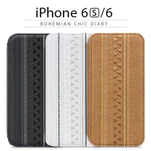stil iPhone6/6S BOHEMIAN CHIC Diary キャメル