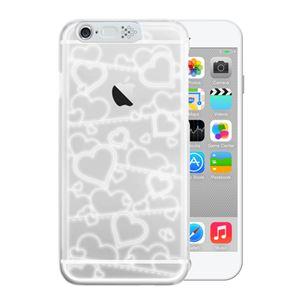 SG iPhone6 i-Clear イルミネーションケース Heart White