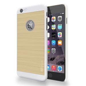 SG iPhone6 Plus ALU ロゴイルミネーションケース Galaxy ホワイト+ゴールド