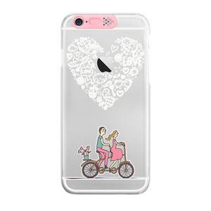 SG iPhone6 Plus Clear Art イルミネーションケース ピンク ハートバイク(Pink Heart Bike)