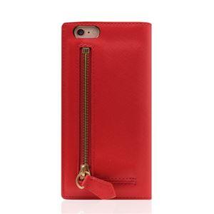 SLG Design iPhone6/6S Saffiano Zipper Case レッド