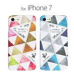 Happymori iPhone 8 / 7 Triangle Pattern ブルー