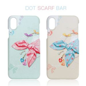 Happymori iPhone X Dot Scarf bar ピンクスカーフ