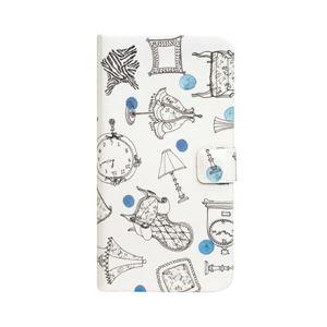 Happymori iPhone X French Cafe Diary ブルー