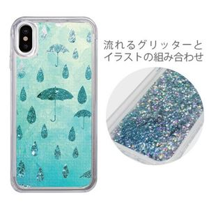 iCover iPhone X Sparkle case Raining day