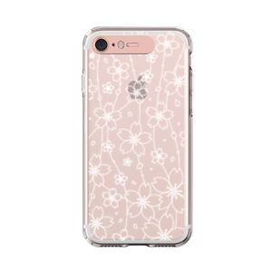 LIGHT UP CASE iPhone 8 / 7 Soft Lighting Clear Case Flower (ローズゴールド)