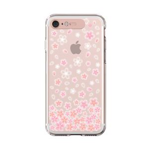 LIGHT UP CASE iPhone 8 / 7 Soft Lighting Clear Case Flower Cherry Blossom (ローズゴールド)