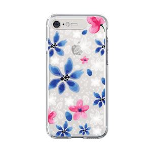 LIGHT UP CASE iPhone 8 / 7 Soft Lighting Clear Case Flower Gardenia (ブラック)