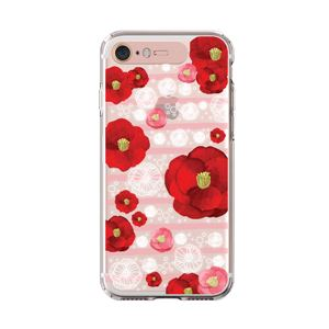 LIGHT UP CASE iPhone 8 / 7 Soft Lighting Clear Case Flower Rosa (ローズゴールド)