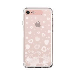 LIGHT UP CASE iPhone 8 / 7 Soft Lighting Clear Case Heart (ローズゴールド)