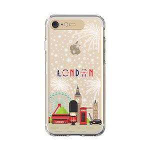 LIGHT UP CASE iPhone 8 / 7 Soft Lighting Clear Case Landmark London (ゴールド)