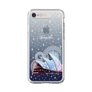 LIGHT UP CASE iPhone 8 / 7 Soft Lighting Clear Case Landmark Sydney (ブラック)