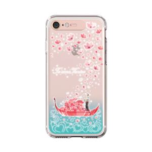 LIGHT UP CASE iPhone 8 / 7 Soft Lighting Clear Case Landmark Venice (ローズゴールド)