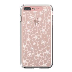 LIGHT UP CASE iPhone 8 Plus / 7 Plus Soft Lighting Clear Case Flower (ローズゴールド)