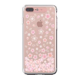 LIGHT UP CASE iPhone 8 Plus / 7 Plus Soft Lighting Clear Case Flower Cherry Blossom (ローズゴールド)