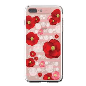 LIGHT UP CASE iPhone 8 Plus / 7 Plus Soft Lighting Clear Case Flower Rosa (ローズゴールド)