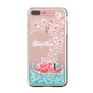 LIGHT UP CASE iPhone 8 Plus / 7 Plus Soft Lighting Clear Case Landmark Venice (ローズゴールド)