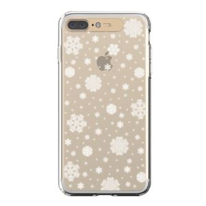 LIGHT UP CASE iPhone 8 Plus / 7 Plus Soft Lighting Clear Case Snow (ゴールド)