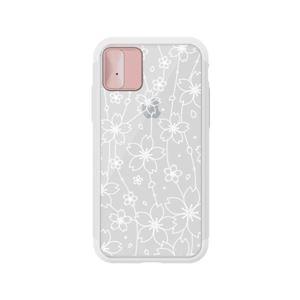 LIGHT UP CASE iPhone X Lighting Shield Case Flower (ローズゴールド)