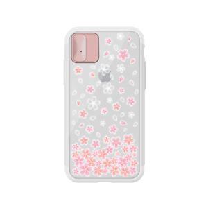 LIGHT UP CASE iPhone X Lighting Shield Case Flower Cherry Blossom (ローズゴールド)