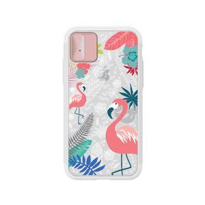 LIGHT UP CASE iPhone X Lighting Shield Case Flower Flamingo (ローズゴールド)
