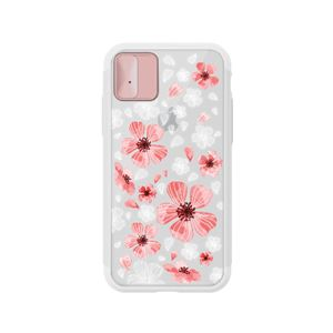 LIGHT UP CASE iPhone X Lighting Shield Case Flower Geranium (ローズゴールド)