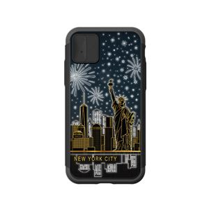 LIGHT UP CASE iPhone X Lighting Shield Case Landmark New York B (ブラック)