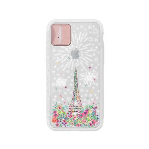 LIGHT UP CASE iPhone X Lighting Shield Case Landmark Paris(ローズゴールド)