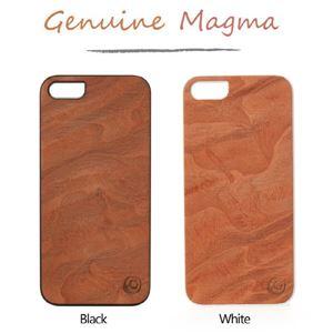 Man & Wood iPhone 5 Real wood case Genuine Magma ホワイトフレーム