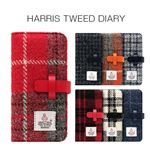 SLG Design iPhone 8 / 7 Harris Tweed Diary ホワイト×ブラック