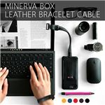 SLG Design Minerva Box Leather Bracelet Cable レッド