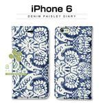 Zenus iPhone 6 Denim Paisley Diary