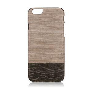 Man&Wood iPhone6/6s 天然木ケース Lattis ブラックフレーム