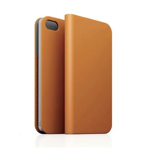 SLG iPhone5/5s D5 Calf Skin Leather Diary タンブラウン