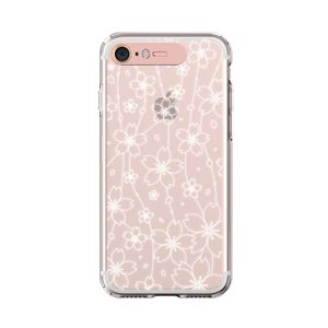 LIGHT UP CASE iPhone 8/7 Soft Lighting Clear Case Flower (ローズゴールド)