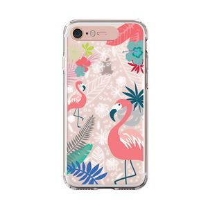 LIGHT UP CASE iPhone 8/7 Soft Lighting Clear Case Flower Flamingo (ローズゴールド)