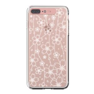 LIGHT UP CASE iPhone 8 Plus / 7Plus Soft Lighting Clear Case Flower (ローズゴールド)